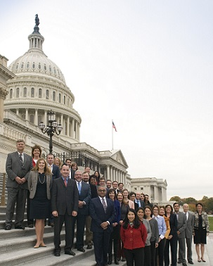 Past Congressional Fellowship Program members. Photo courtesy of American Political Science Association.