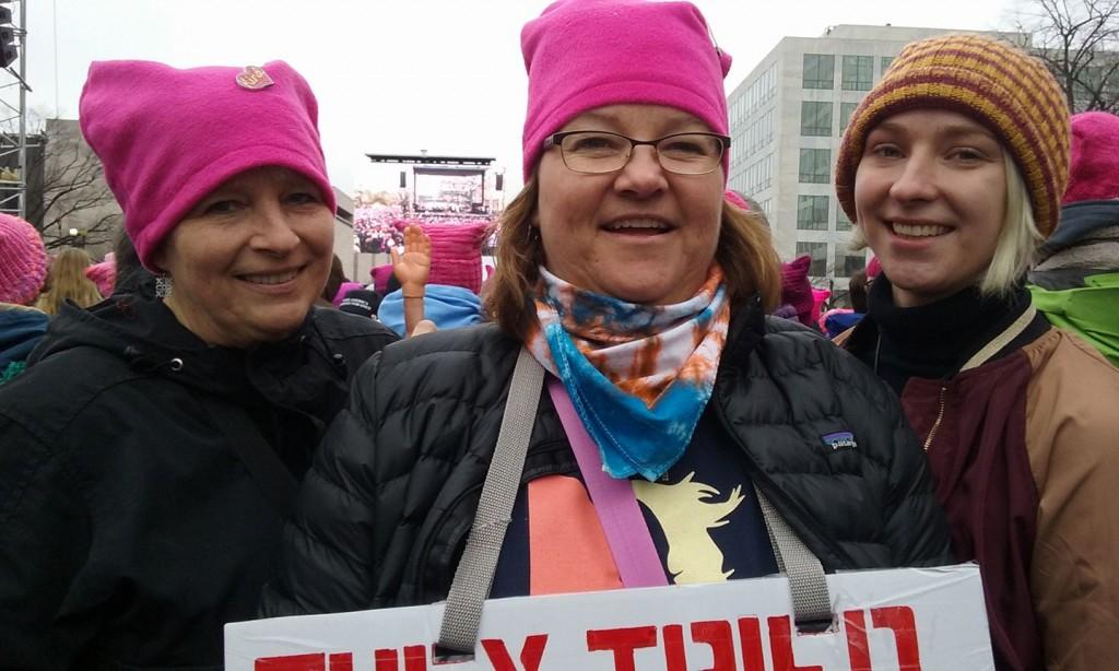 Carol Sofia I at Womens march 2017