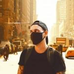 Young Men Walk With Mask In New York