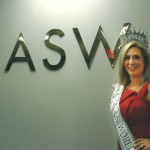 Carla Gonzalez visits the NASW national office in Washington, D.C.