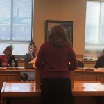 NASW CEO Lori Gramlich testifies at hearing. Photo courtesy of Equality Maine.