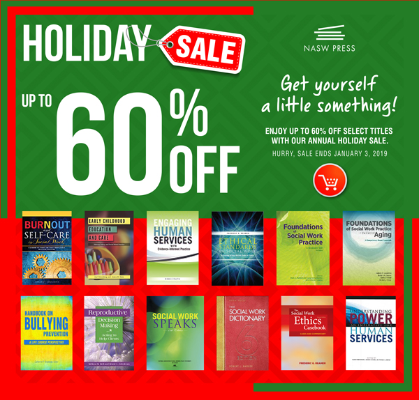NASW Press Annual Holiday Sale Graphic