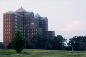Exterior shot of Kings Park State Hospital in King Park, NY.