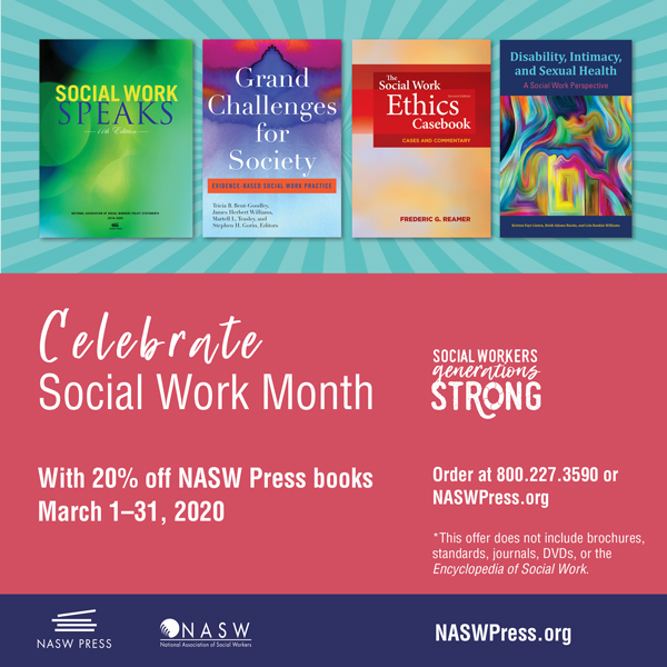 NASW Press Social Work Month Promotion 2020