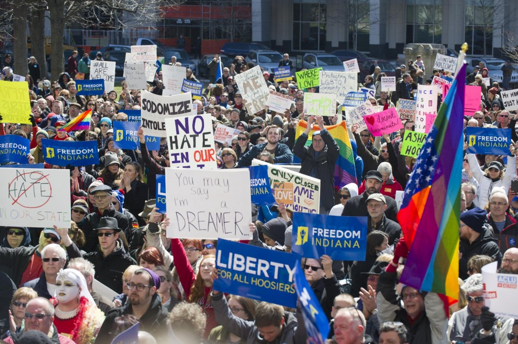 Passage of the Religious Freedom Restoration Act has sparked protests in Indiana and boycotts around the nation.