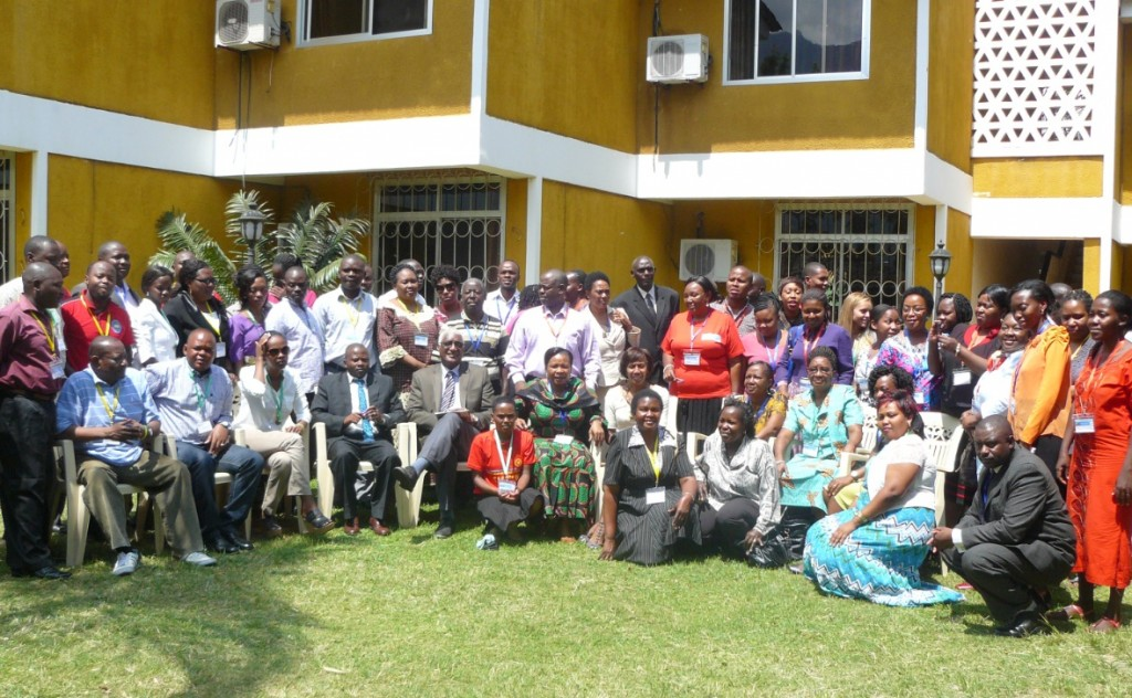 About 100 social workers gathered at the Tanzanian Association of Social Workers (TASWO) annual meeting.