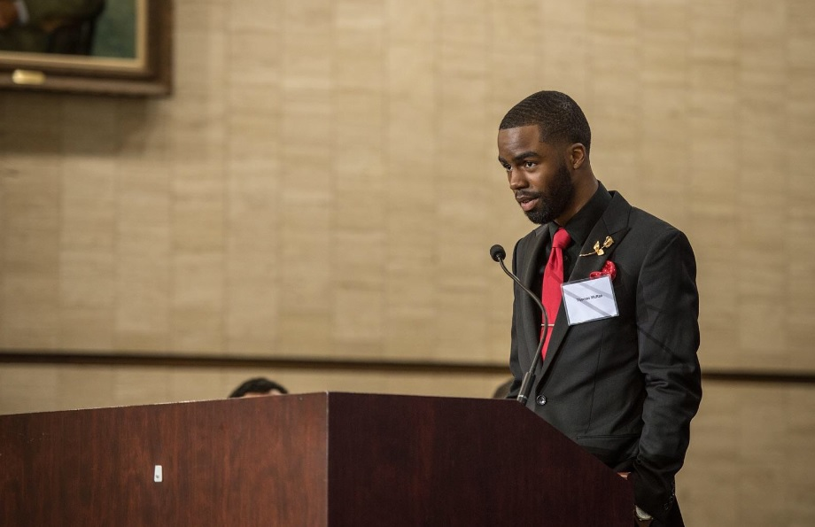 Former foster child Thomas McRae was adopted as a teenager and now does public speaking to inspire others.